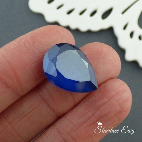 kaboszony szklane fasetowane 13x18 mm kryształki