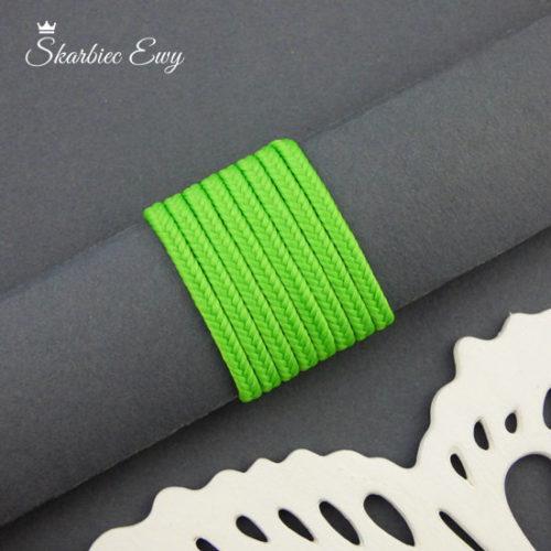 polski sznurek sutasz 3mm soutache zielony