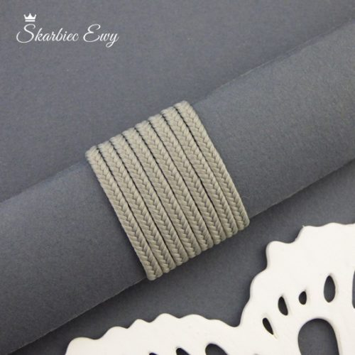 polski sznurek sutasz 3mm soutache popielaty