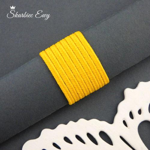 polski sznurek sutasz 3mm soutache żółty