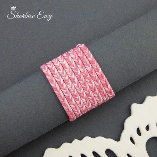 polski sznurek sutasz 3mm soutache ombre róż