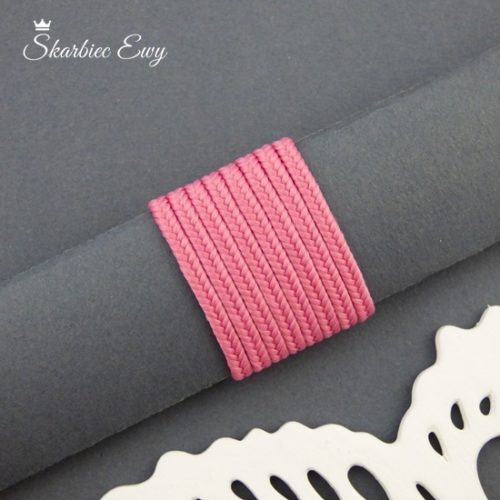 polski sznurek sutasz 3mm soutache różowy