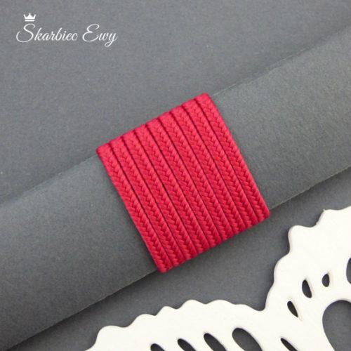 polski sznurek sutasz 3mm soutache amarant