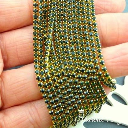 taśma cyrkoniowa 2 mm emerald ciemny