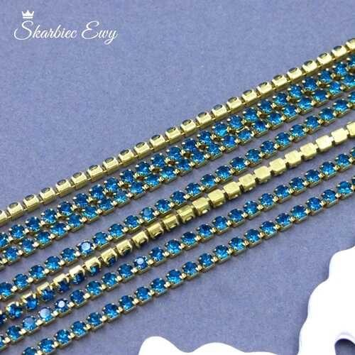 taśma cyrkoniowa 2 mm PEACOCK BLUE