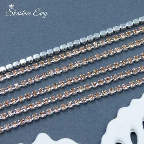 taśma cyrkoniowa srebrna 2 mm CHAMPAGNE