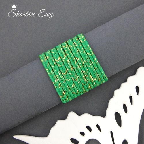 polski sznurek sutasz metalizowany ombre nowość zielony szmaragdowy