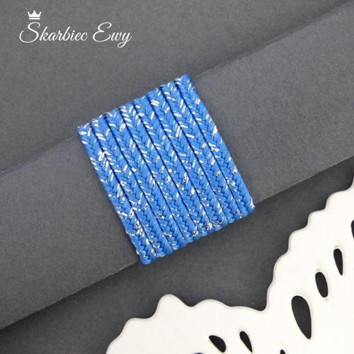 polski sznurek sutasz metalizowany ombre nowość niebieski