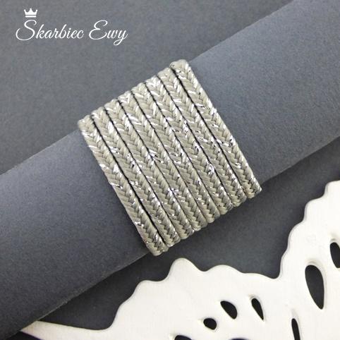 polski sznurek sutasz metalizowany ombre nowość szary