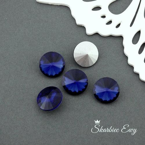 szklany kryształek rivoli niebieski royal blue