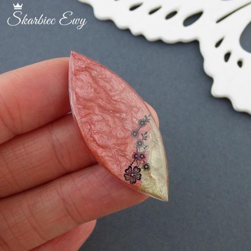 kaboszon handmade ręcznie robione wrzeciono różówy