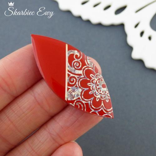 kaboszon handmade ręcznie robione czerwone