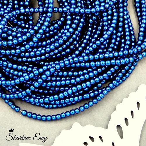 perły szklane 3 mm perełki do biżuterii