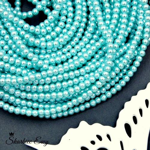 perły szklane 4 mm perełki do biżuterii