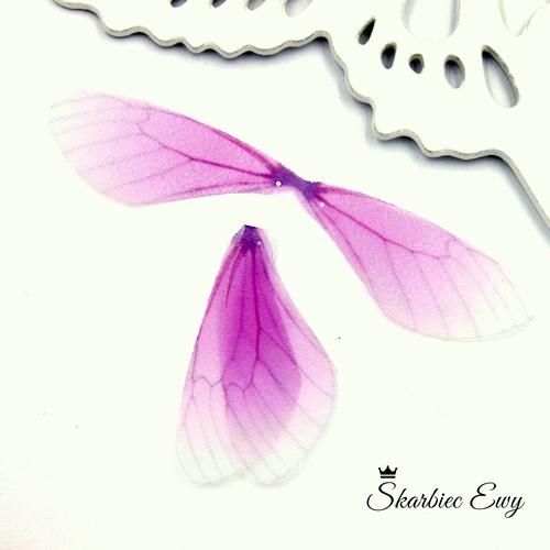 skrzydła ważki z organzy do biżuterii LILIOWE