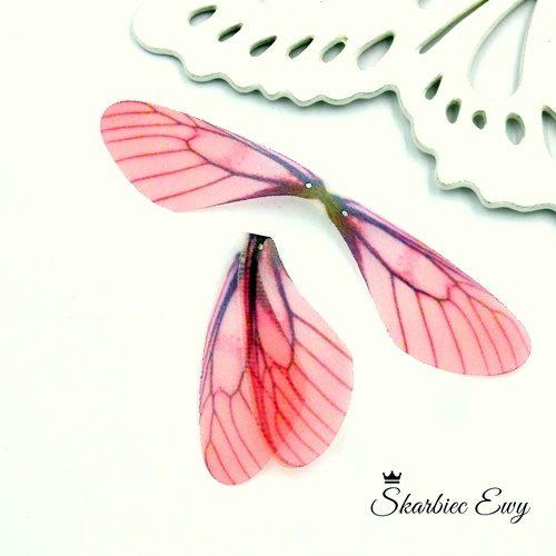 skrzydła ważki z organzy do biżuterii