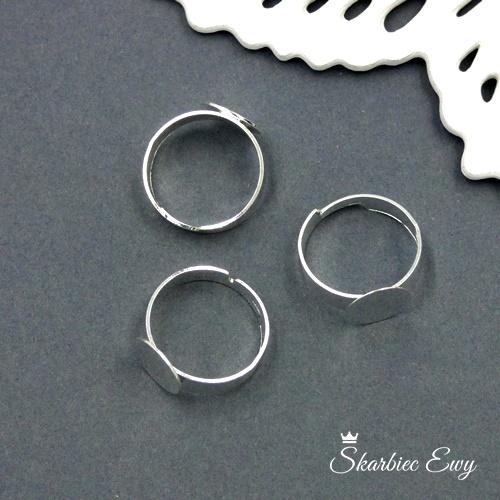 baza pierścionka z talerzykiem metalowa regulowana