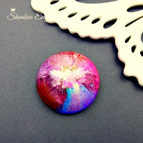 kaboszon handmade z żywicy robiony kolorowy