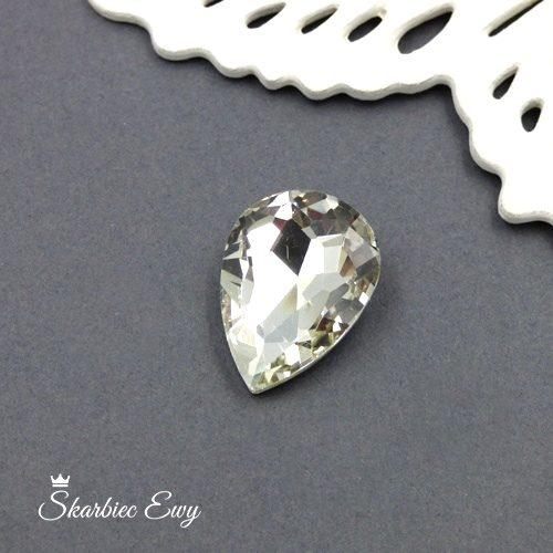 kaboszony szklany fasetowany kryształek łezka 25x18 crystal
