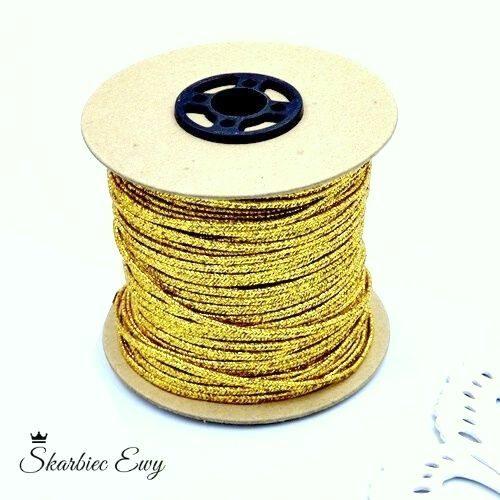 sznurek sutasz szpula metalizowany
