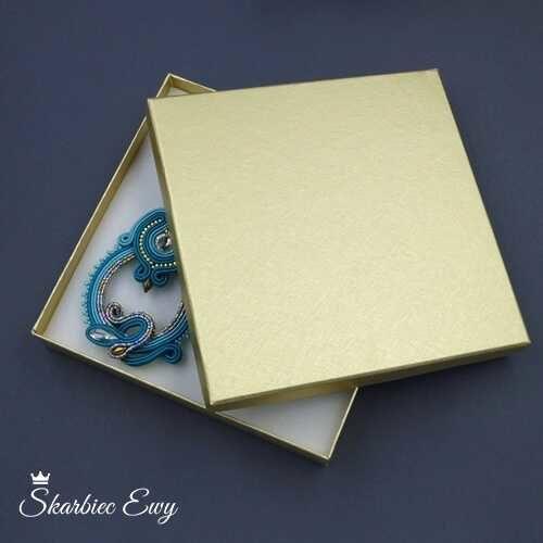 pudełko ozdobne jubilerskie duże złote