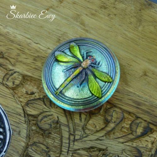 guzik szklany czeski ważka 31,5mm