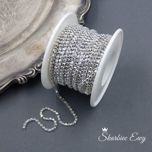 taśma cyrkoniowa do biżuterii 2,0mm SILVER