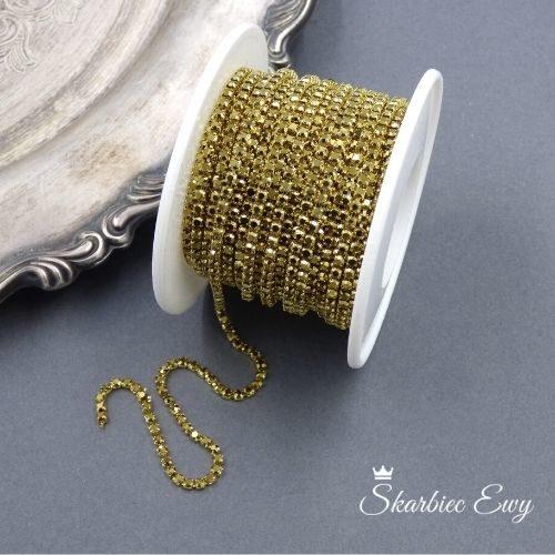 taśma cyrkoniowa do biżuterii 2,0mm GOLD