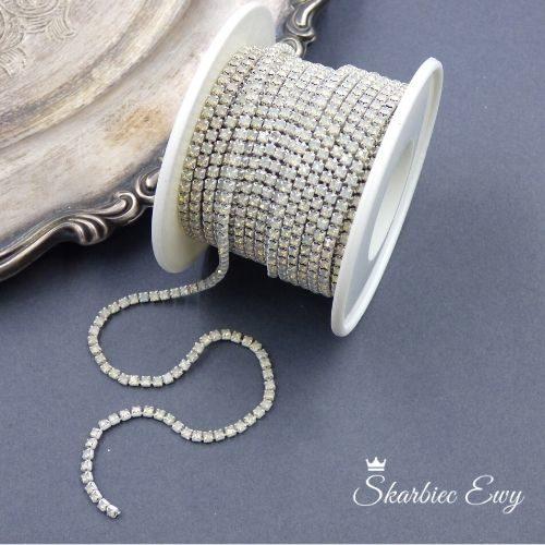 taśma cyrkoniowa do biżuterii 2,0mm WHITE OPAL
