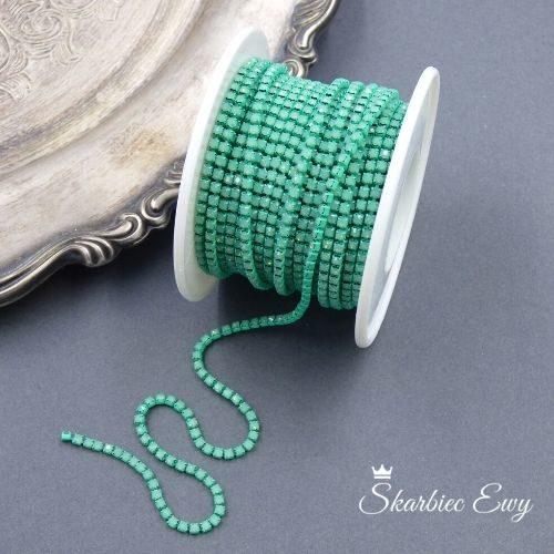 taśma cyrkoniowa do biżuterii 2,0mm GREEN OPAL