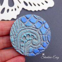 13_66 kaboszon handmade ręcznie robiony turkus