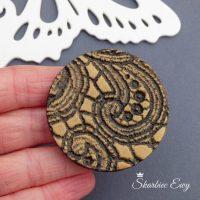 kaboszon handmade ręcznie robiony brązowy