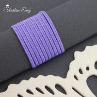 sznurek sutasz turecki 2,5 mm jasny fioletowy