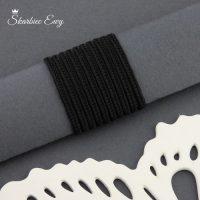 sznurek sutasz turecki 2,5 mm czarny