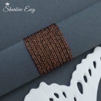 sznurek sutasz turecki 2,5 mm metalizowany brązowy